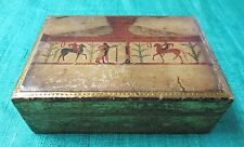 Antique Wooden Trinket Box Handsome Greek Motif Made in Italy Early Florentia?
