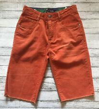 NWOT Mini Boden Orange Corduroy Shorts 11 Y