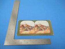 1905 Stereoview T.W.Ingersolle #126 Jin Rickshaws For The Wounded In Dalny