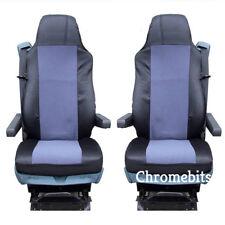 2 / Paire tissu gris Housses de siège auto sur mesure pour DAF Camion XF95 XF105