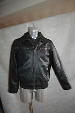 BLOUSON GUESS SIMILI CUIR  SWEAT CAPUCHE TAILLE M JACKET/CHAQUETA/GIACCA BE