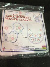 Jack Dempsey Needle Art Table Runner Dresser Scarf Pattern 33 443 Hearts
