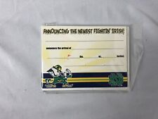 Notre Dame Fightin' Irish Birth Announcements Package of 10 Cards and Envelopes