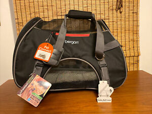 Bergan Airline Compatible Large Pet Dog Cat Comfort Carrier New Black 22 lbs