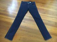 H&M Low Waist Skinny Dark Wash Denim Jeans - Women's Size 27/32