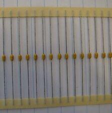 100 pcs AVX .1uF 50V 20% SA105E104MAA axial MLCC ceramic capacitors US Seller