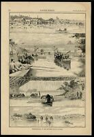 Schuylkill River Regatta Rowing Race Pleasure Boating 1884 wood engraved print