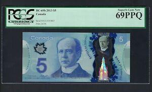 Canada 5 Dollars 2013 BC-69b Uncirculated Grade 69