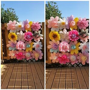 16  x  flowers wall tissue paper pompoms nursery  party birthday decorations