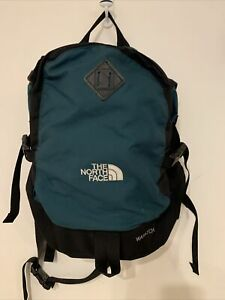 Vintage North Face Wasatch Backpack Green Pockets Zippers Hiking Books Tote Bag