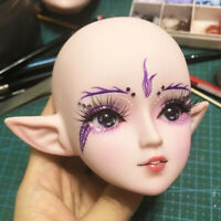 24'' 1:3 Dolls Plastic Nude Makeup Head for DIY Making Doll Body Parts