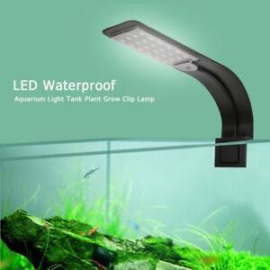 Super Slim LED Aquarium Light Lighting Plants Fish Tank Grow 10W Clip-on Light
