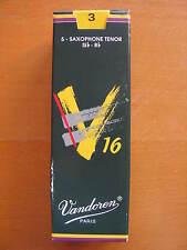 Vandoren v16 tenorsaxophonblätter grosor 3 hojas sueltas