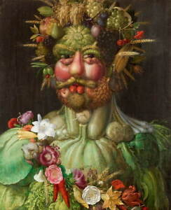 Giuseppe Arcimboldo Rudolf II of Habsburg as Vertumnus Giclee Canvas Print