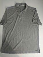 Travis Mathew Men's Size XLarge Gray Short Sleeve Polo Golf Shirt XL