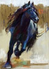 CHENPAT151 modern fancy black horse art oil painting 100% hand-painted on canvas