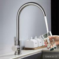Chrome Kitchen Sink Taps Basin Modern Mixer Tap Swivel Spout Single Lever Faucet