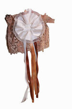 Jarretière dentelle caramel fleur ivoire à ruban jarretière ceremonie mariage