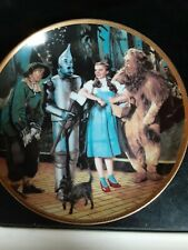 """""""We're off to see the Wizard"""" Wizard of Oz collector plate (Hamilton Collection)"""