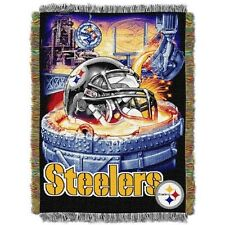 Pittsburgh Steelers Acrylic Tapestry Throw Blanket NFL 74665