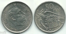 General Franco 50 pesetas 1957 * 71 Brillo original