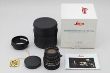 TOP MINT Leica SUMMICRON-M 50mm f2 E39 BLACK Made in Germany from Japan a634