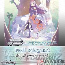 Sword Art Online II Vol 2 (Japanese) Weiss Schwarz Extra Booster Foil Playset