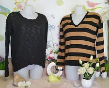 "Lot vêtements occasion femme - Pulls "" Mango "" - T : 42 / 44 / XL"