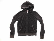 Juicy Couture Womens Hoodie Size XL XLarge Brown Full Zip Tapered Pockets Active