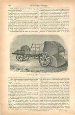 Machine Agricole Steamscoop Ecope à Vapeur John Fowler GRAVURE OLD PRINT 1879