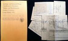 1963 GEOLOGY GROUND WATER CONDITIONS NASSAU COUNTY QUEENS COUNTY LONG ISLAND NY
