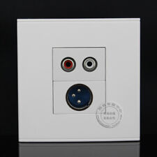 Wall Face Plate RCA AV + XLR panel Connector Socket Assorted Panel Faceplate