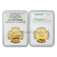 Jersey 1990 Battle of Britain 100 Pounds Gold NGC PF68 ULTRA CAMEO