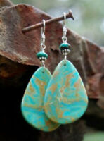 Classic Woman 925 Silver Turquoise Drop Dangle Hook Earrings Engagement Jewelry