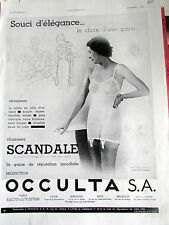 SCANDALE GAINE ELEGANCE 1934 MO 620 MODE PUBLICITE ANCIENNE