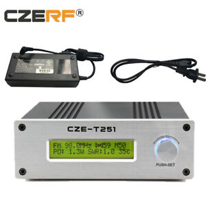 Professional CZE-T251 0-25W fm transmitter Broadcast + Power supply