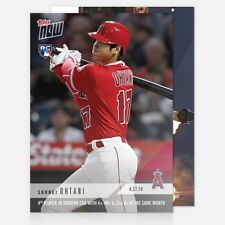 2018 Topps Now~Card #136 ~ Shohei Ohtani 4th player in modern era with 4 HR's &