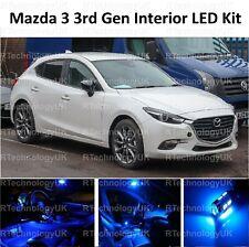 Blue Premium per Mazda 3 2013-2018 interno completo aggiornamento Kit Lampadina LED Luce