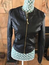 Guess Los Angeles Size S Black Faux Leather Jacket