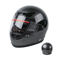 DOT Adult Carbon Fiber Flip Up Full Face Motorcycle Motocross Helmet Street Bike