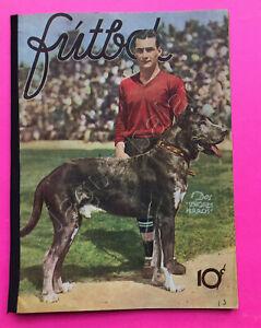 Mexican Futbol Soccer magazine GUILLERMO PERRO ORTEGA Cover #16 14th Feb 1934