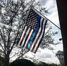 Thin Blue Line American Flag 3'x5' Made In The USA