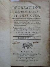 OZANAM : RECREATIONS MATHEMATIQUES ET PHYSIQUES, 1770. 4 vol., 135 planches