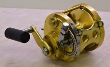"""FIN NOR VINTAGE  6.0 FISHING REEL A-764. Lever drag big game trolling""""since 1933"""