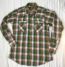 Vintage Cutter Bill Plaid Pearl Snap Men's Rockabilly Western Shirt