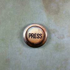 """Vintage Style Steampunk Press Button Fridge Magnet 1"""" Elevator Rusted Antiqued"""