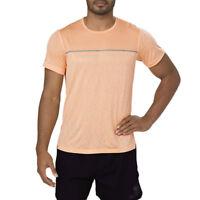 Asics Mens Gel-Cool Short Sleeved Running Top Orange Sports Breathable