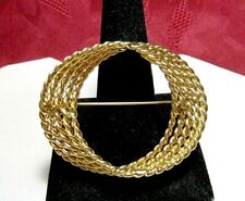 Multi Chain Curve Pin Brooch Nwot Monet Gold Tone Twisted