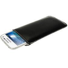 Black Genuine Leather Pouch Case Cover Samsung Galaxy S4 SIV Mini I9190 I9195