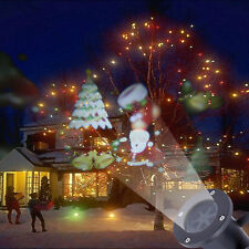 Outdoor Moving Snow Laser Projector LED Light Lamp Santa Claus Christmas